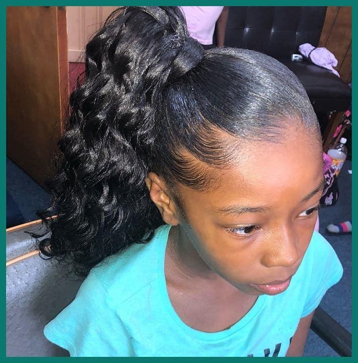 27 Populer Little Black Girl Ponytail Hairstyle In 2020 Cute Ponytail Hairstyles Black Girl Ponytails Cute Ponytails