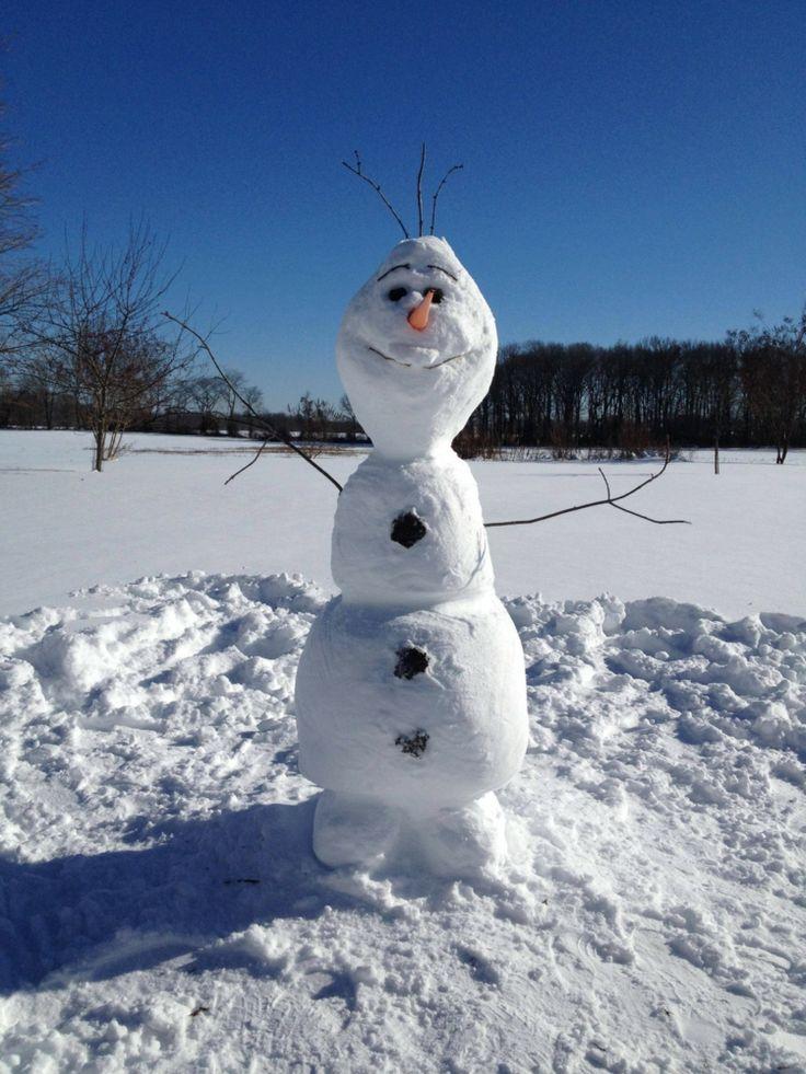 Olaf bauen für Spaß im Winter
