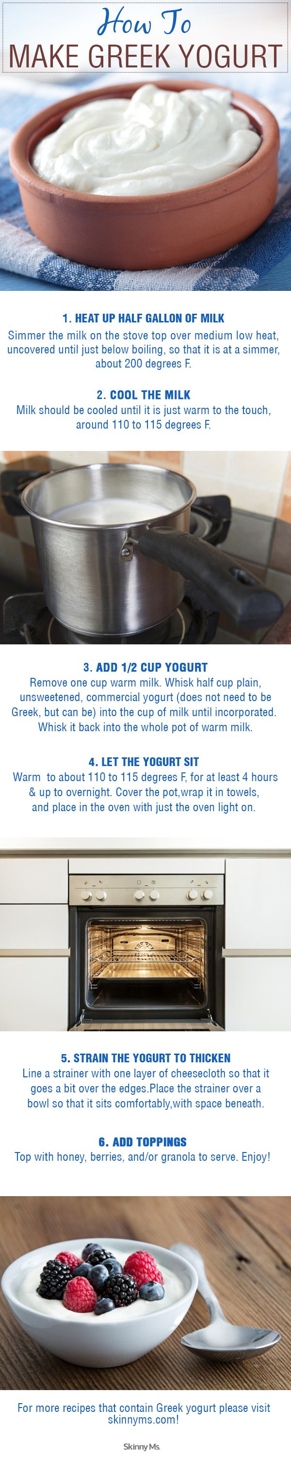 Make your own homemade Greek yogurt with our simple tips. #Greekyogurt #DIY #HowTo