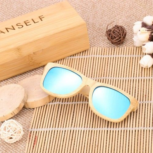 Buy Anself Fashion Bamboo Wood Wooden Outdoor Sports Bicycle Cycling Unisex UV400 Polarized Sunglassesfor R450.00