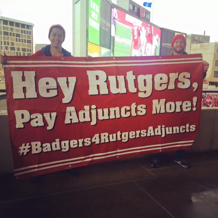 #CEW2015 via @ruaaup: #Badgers4RutgersAdjuncts banner spotted @ today's @RFootball game @NJTVNews pic.twitter.com/B33Y51d7cZ