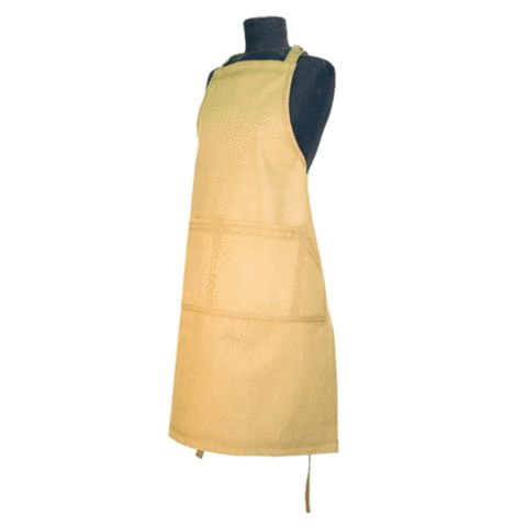 Organic cotton heavy duty apron. Available in black or natural – Evolution Emptor $29.95