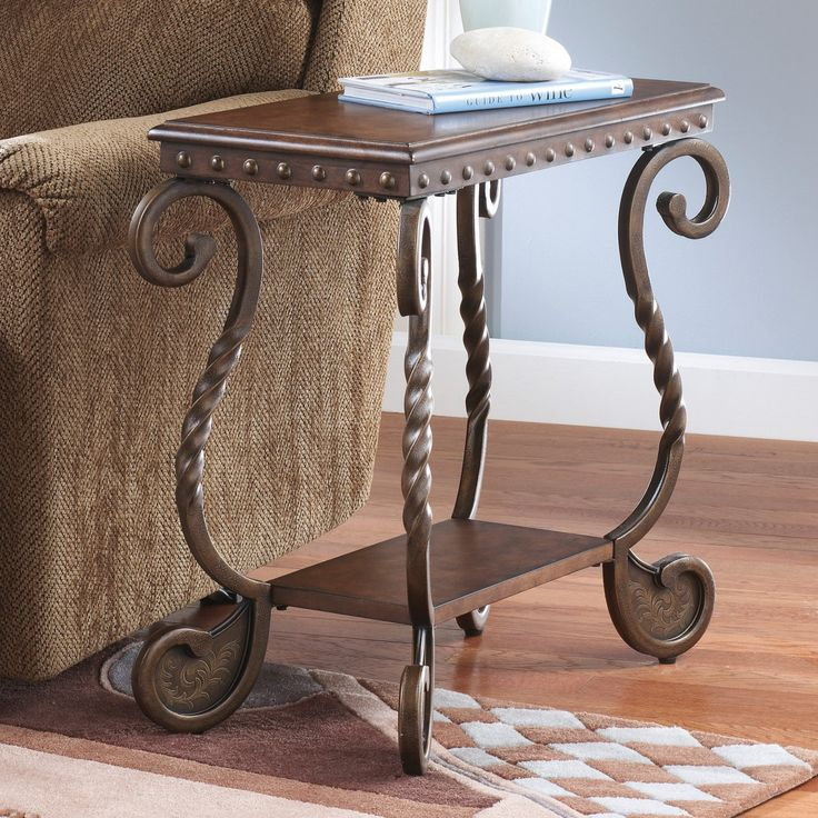 Signature Design By Ashley Rafferty Brown Chair Side End Table - T382-7