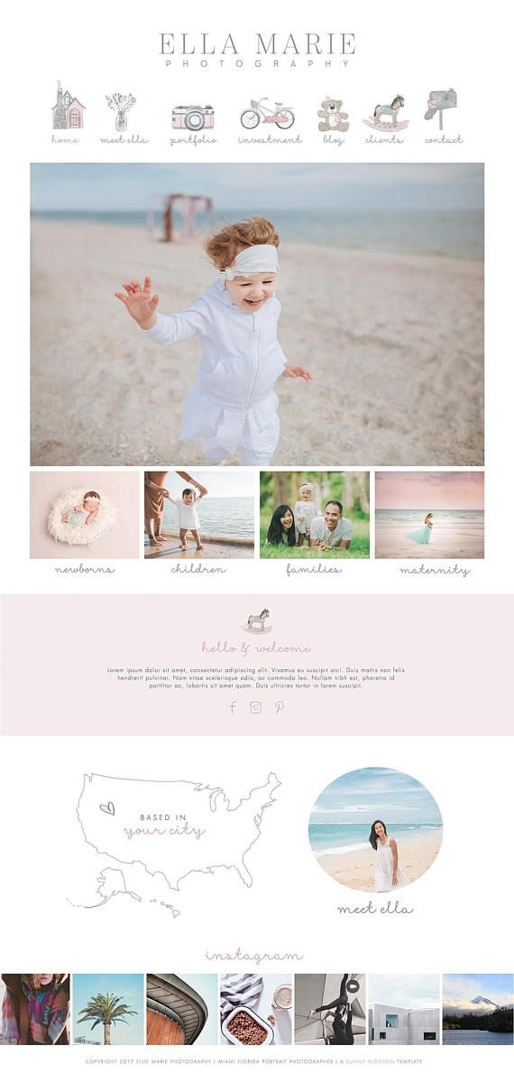 Wix Website design website template photography logo