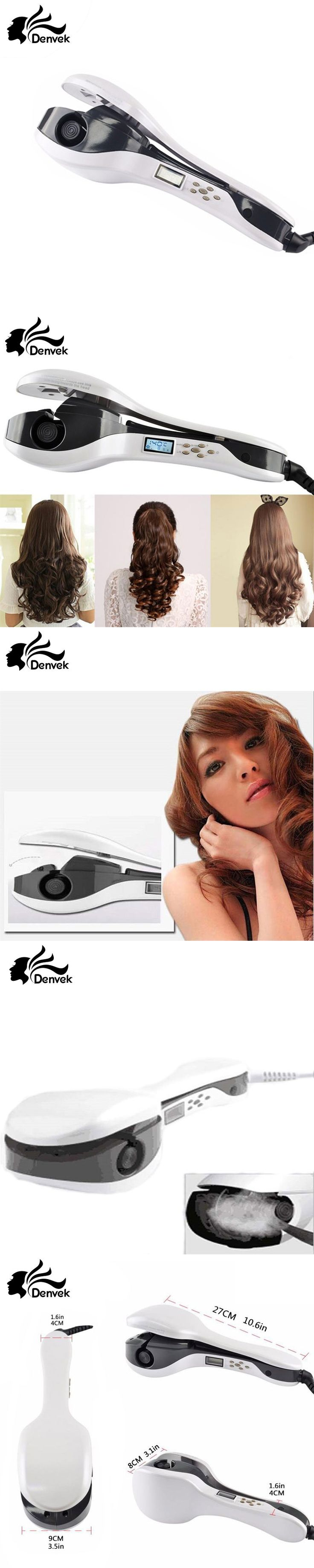 2017 New Hot Sale Professional Salon PTC Heating  White Color Ceramic Negative Ions Steam Automatic Hair Curler Hair Style Tools