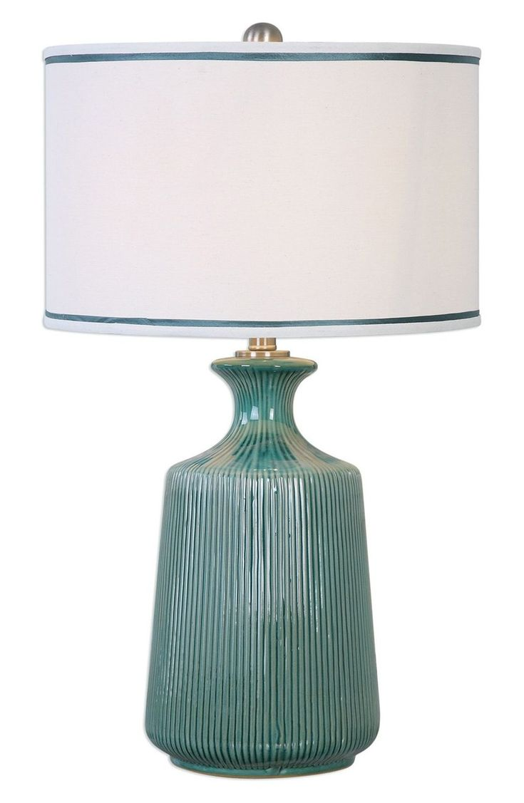 Blue Green Ceramic Table Lamp