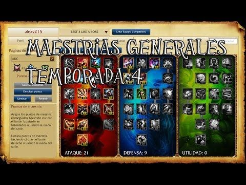[LoL]Maestrias y runas Garen TEMPORADA 4 - YouTube