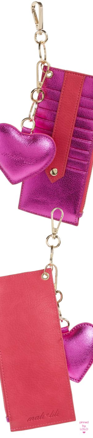 Mali + Lili Sydney Faux Leather Card Case with Heart