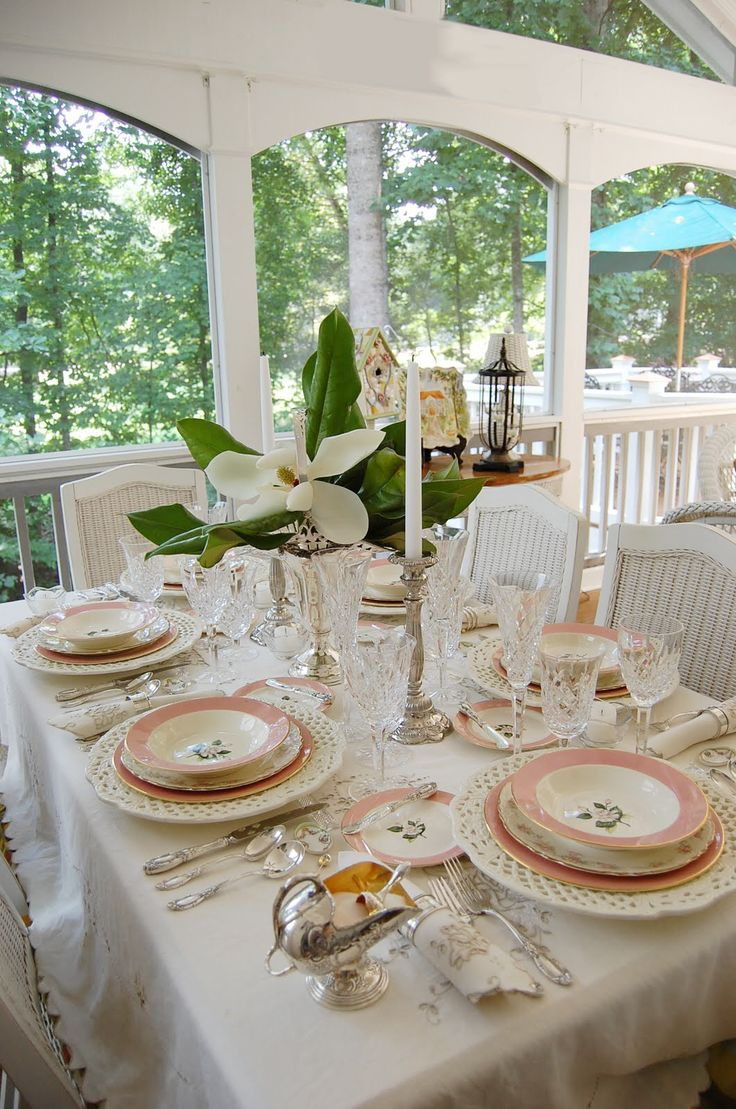 Tablescape Thursday Celebrating 100 Table Settings & 2793 best Centerpieces and Table settings images on Pinterest ...
