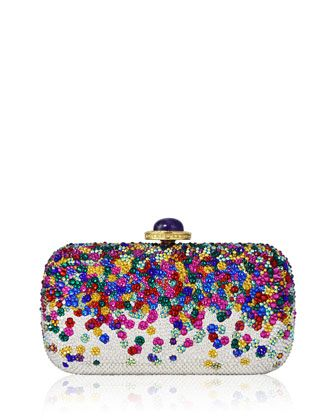 Soap Dish Confetti Crystal Clutch Bag, Champagne Rhinestone by Judith Leiber Couture at Neiman Marcus.