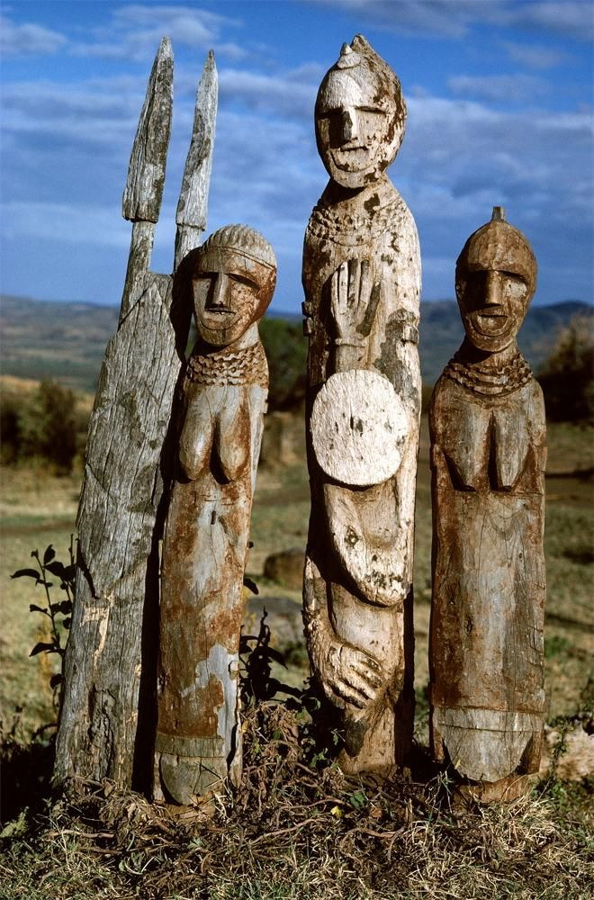 Waga Figures. Ethiopia Waga figures, carved in honour of a dead hero or an important man. These figures are placed in and around the fields, and not necessarily where the man has been buried. The...