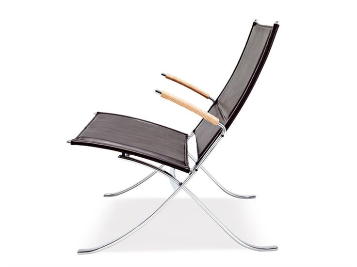 Leather Armchair With Armrests FK 82 X CHAIR FK Collection By Lange  Production