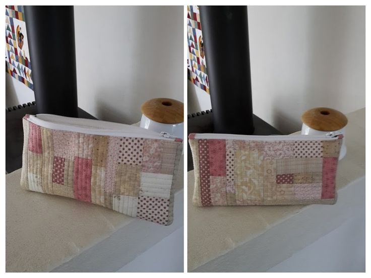 Pouch. Quilt as you go. 2015.