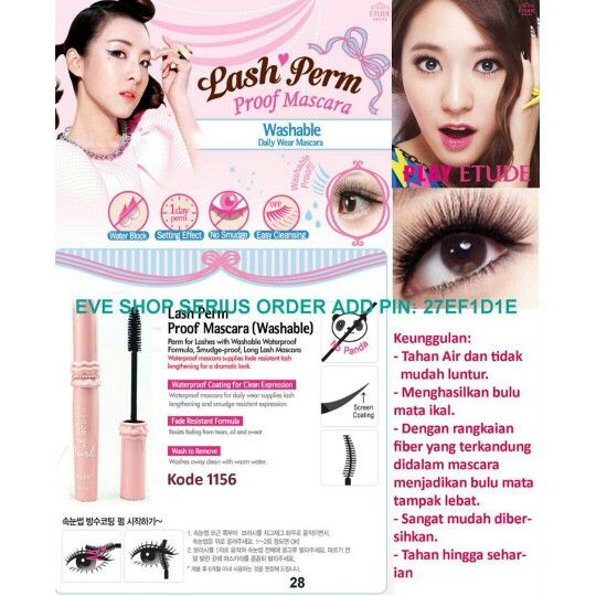 ETUDE MASCARA HANYA RP. 65.000. ORDER ADD WHATSAPP 0812 89877907/ PIN BB: 27EF1D1E