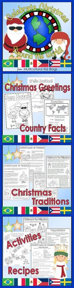Celebrate Christmas Around the World with Multicultural Kid Blogs! Get your students excited about the holiday season and the world with this fun and educational packet on the Christmas traditions and celebrations of six countries: Brazil, France, Mexico, the Philippines, Puerto Rico, and Sweden