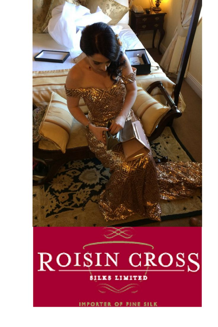 Sequin Corseted Full Length Bridal Gown