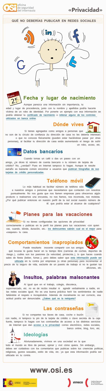 Cosas que no se pueden hablar en Redes Sociales #infografia #infographic #socialmedia