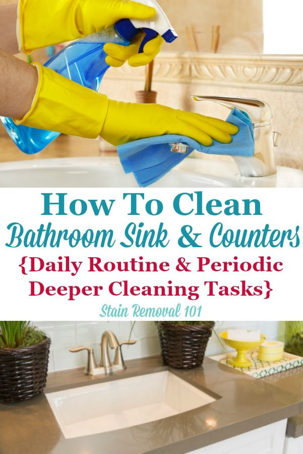How To Clean Bathroom Sink  Counters Daily Routine  Periodic