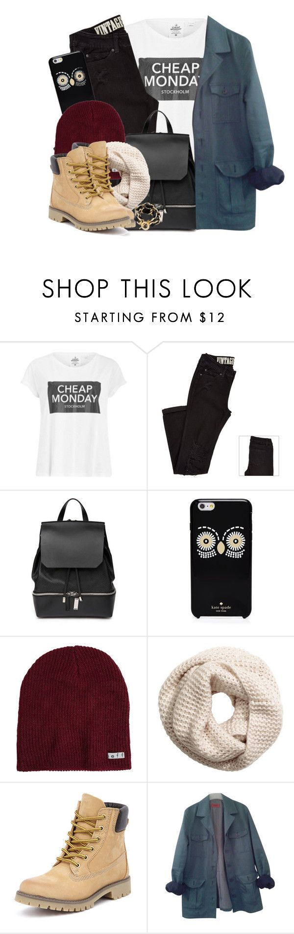 """""""Here // Alessia Cara"""" by nikki-huynh ❤ liked on Polyvore featuring Cheap Monday, COSTUME NATIONAL, Kate Spade, Neff, H&M, Bronx, HUGO and CC SKYE"""