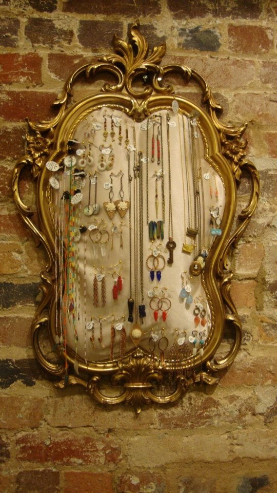I Repurposed A Broken Vintage Mirror To Display My Jewelry