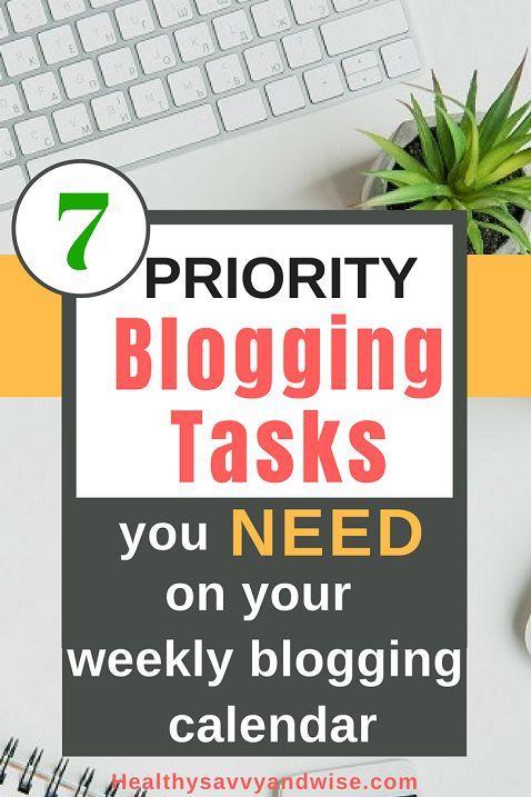 Seven Genius Ways To Prioritize Your Weekly Blogging Schedule Like