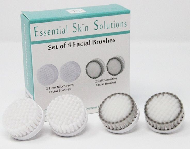 Facial Brush Replacement Heads - Sensitive Skin Face Brush and Microdermabrasion Face Brush Replacement Heads for the Perfect Skin Brushing - Set of 4. FACE CLEANSING - These Facial Brushes are perfect for keeping your skin clean and clear. Helps clear Acne, exfoliates. INCLUDES - 2 SENSITIVE Skin Facial Brushes and 2 Firm MICRODERMABRASION Face Brushes for the Perfect Skin Brushing System by Essential Skin Solutions. The heads only fit the system by Essential Skin Solutions. It does not…