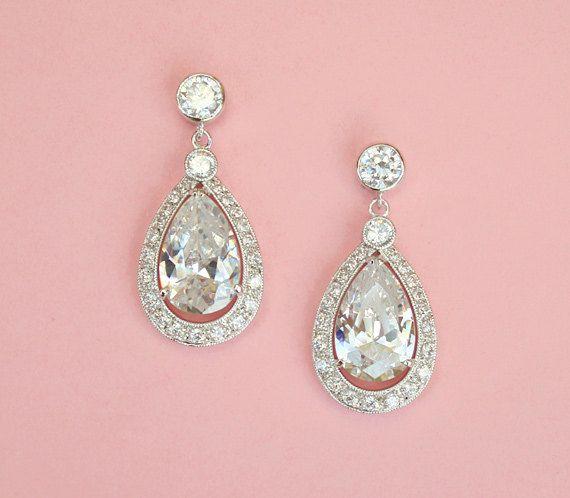 FREE SHIPPING  Oversize Silver Drop Earrings  by spoiledpretty, $79.95