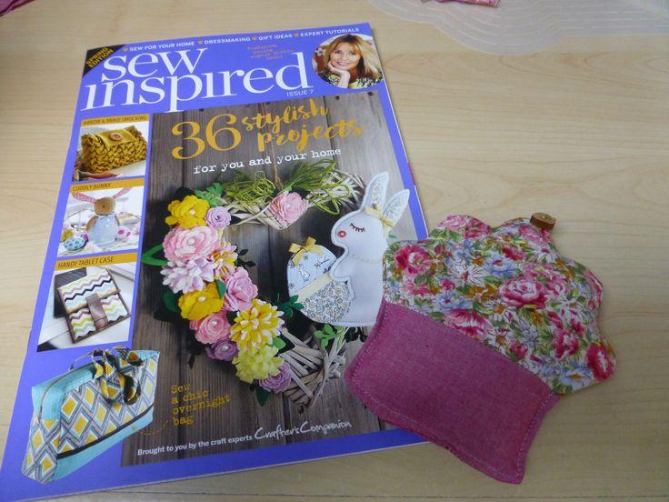 Cupcake paper pattern weight using the Sew Inspired 7 magazine pattern #crafterscompanion