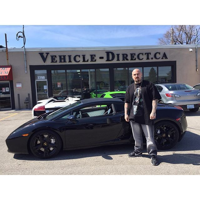 Tattoo artist and owner of Street city tattoos, Focus picked up his black on white Gallardo coupe!! .... Incredible tattoo artist, check him out @focustattoos