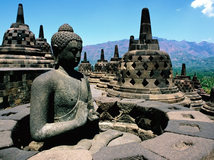 Borobudur, Indonesie