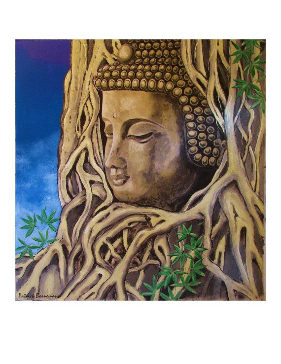 The Roots of Buddha Print 85x11 Free Shipping n by ArtCalifornia, $20.00