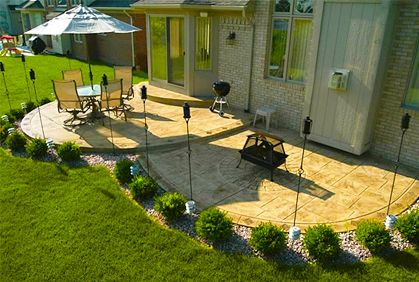 concrete patio ideas with most popular design makeovers and best ... - Simple Backyard Patio Ideas