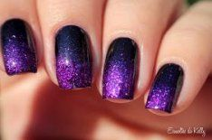 26 Ideas Nails Black Purple Sparkle  – & nails
