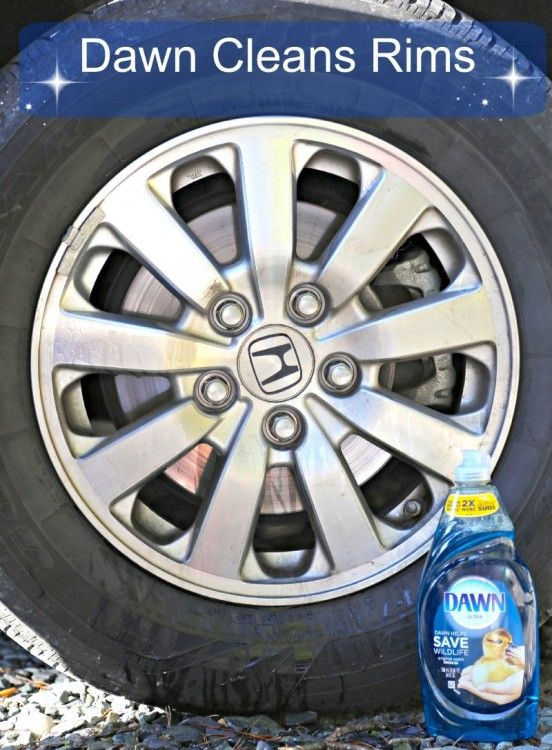 Did you know that you can use Dawn to clean rims? Check out how I did it! #DawnBeyondtheSink #sponsored