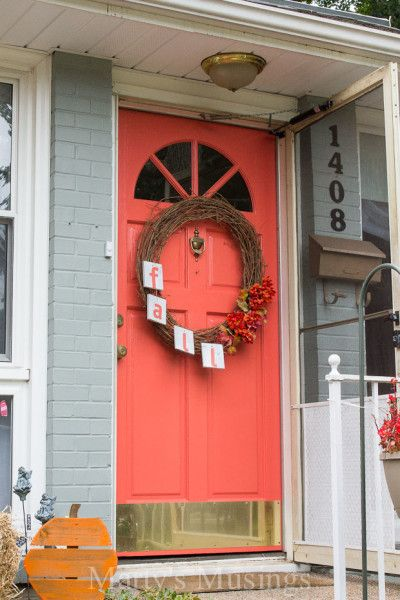 Behr Japanese Kimono - beautiful coral front door paint color!