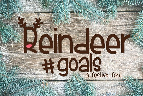 Reindeer Goals by Kitaleigh on @creativemarket