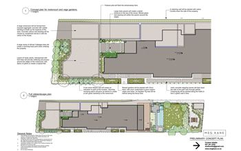 Landscape plan: in design phase