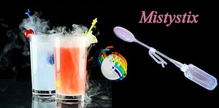 Zestaw suchego lodu 7 kilogramów kupowany do drinków nie może się obyć bez mieszadełek Mistystix. Suchy lód z zestawu umieszczamy w pojemniczku, który jest integralną częścią mieszadełka. Po zamknięciu pojemniczka dodajemy mieszadełka Mistystix z suchym ludem do drinka lub innego płynu, który chcemy schodzić.