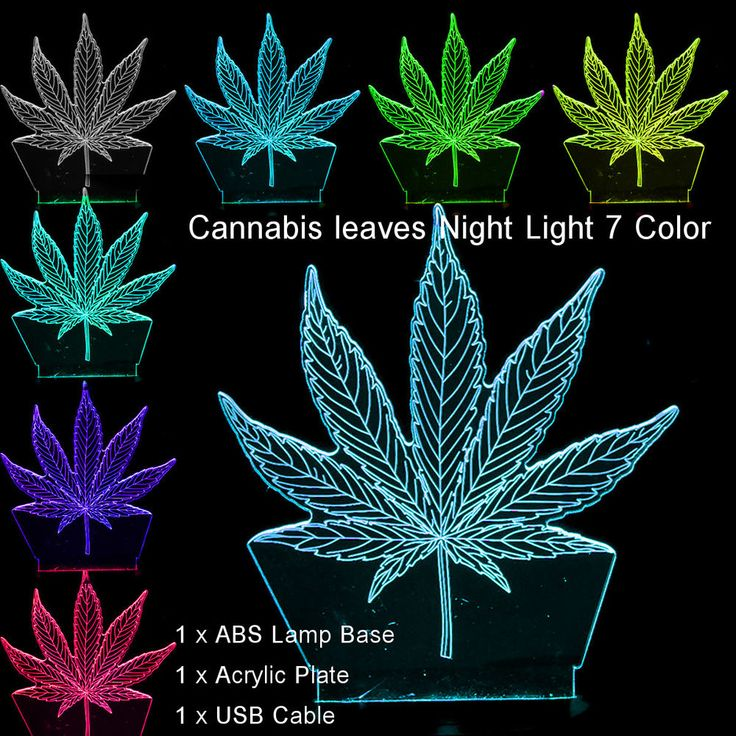 Novelty 3D Abstract #Cannabis Leaves Night Light 7 Colors Change LED Table Lamp #Unbranded offered by auss32 on eBay