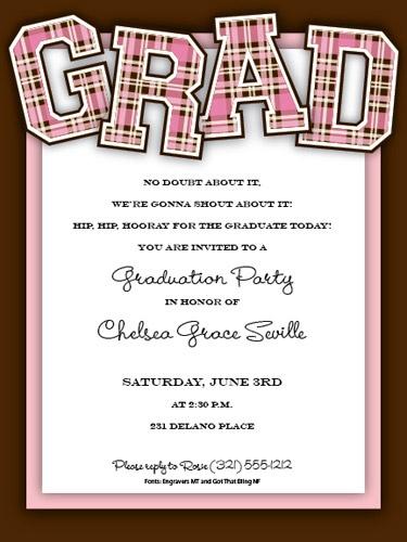 As 9 melhores imagens em graduation cards insides no pinterest grad plaid pink graduation invitation stopboris Gallery
