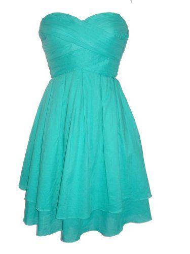 JESSICA SIMPSON Strapless Tiered Skirt Dress-AQUA GREEN-8 Jessica Simpson http://www.amazon.com/dp/B00597LHV0/ref=cm_sw_r_pi_dp_DObOwb023DYZK