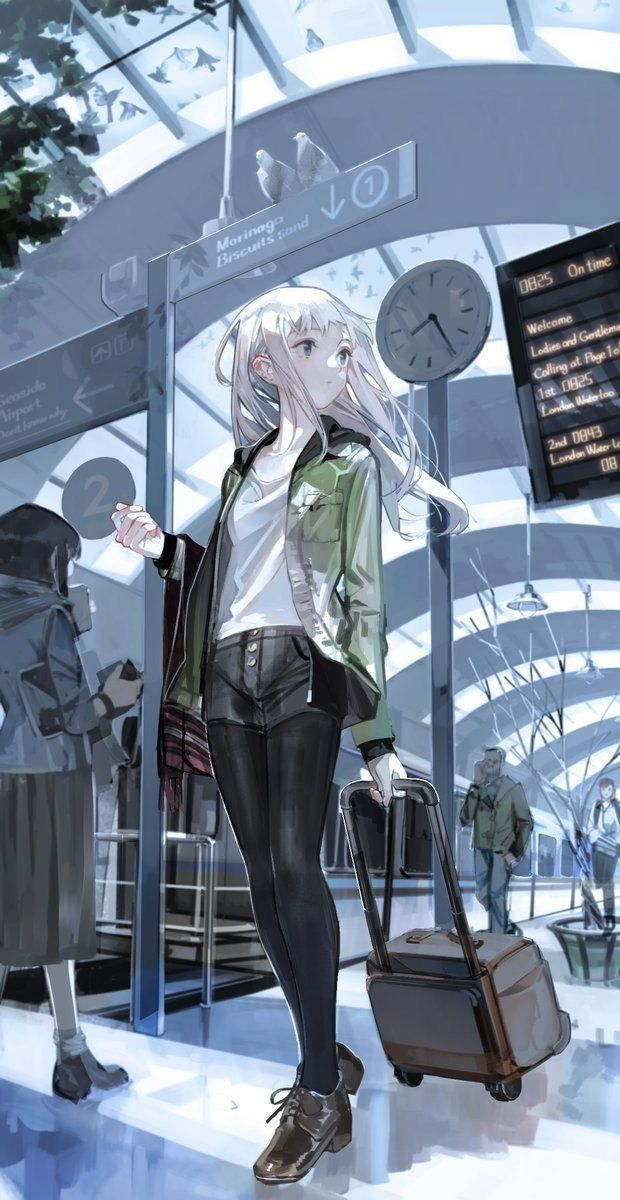 異国に降り立った旅行少女