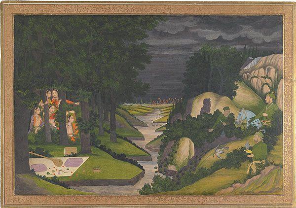 Muhammad Shah hunting