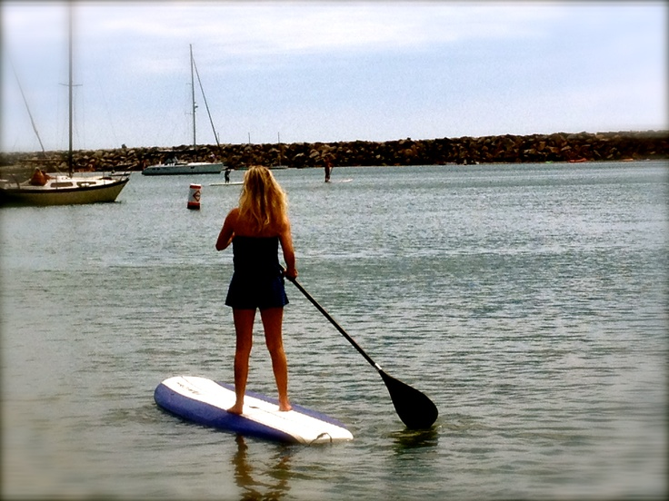 me paddle boarding at the dana point harbor