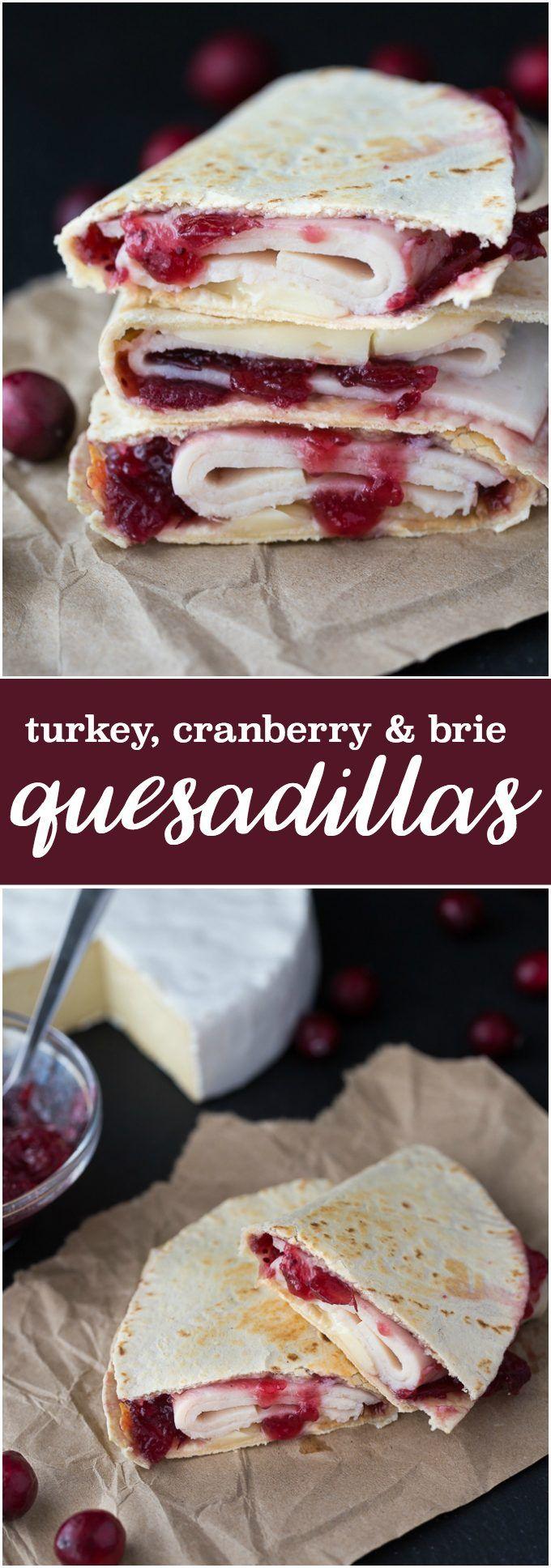 Turkey, Cranberry & Brie Quesadillas