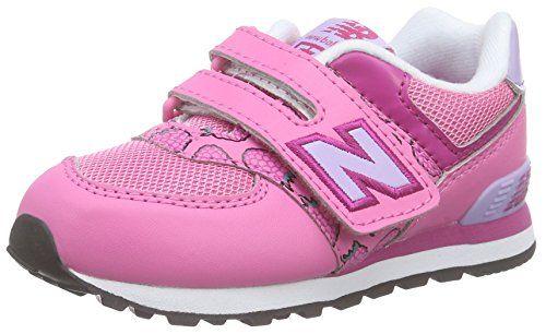 awesome New Balance - 574, Mocasines para Bebés que ya se tienen de pie Bebé-Niños, Rosa (Pink), 24 EU
