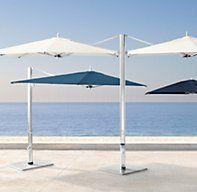 Tuuci® Ocean Master Max Dual Cantilever Umbrella   Tuuci® Cantilever Umbrellas   Restoration Hardware