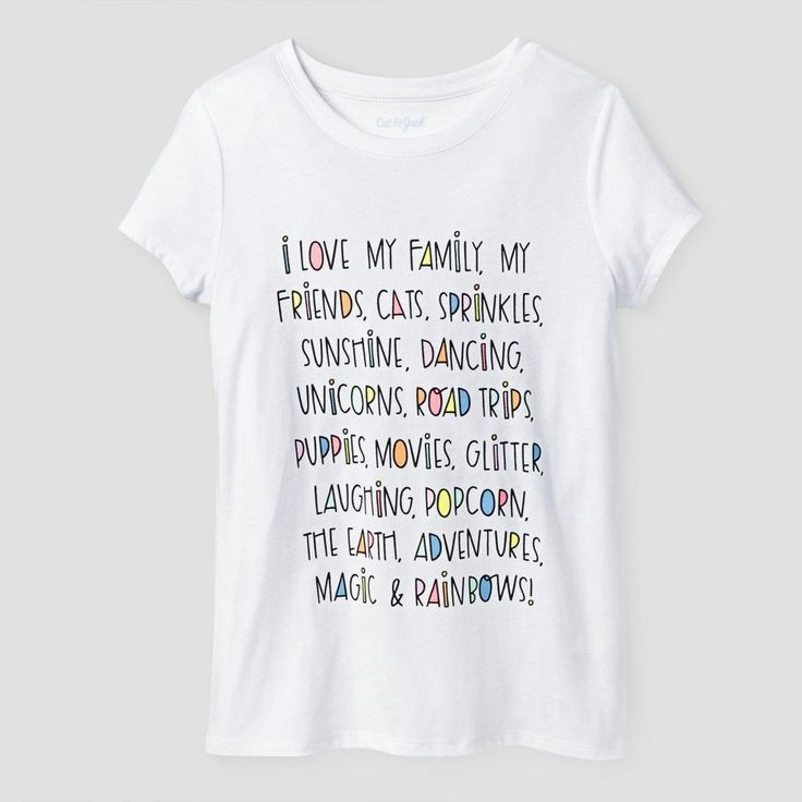 Girls' Positive Message Graphic Tee Cat & Jack New White XL, Girl's