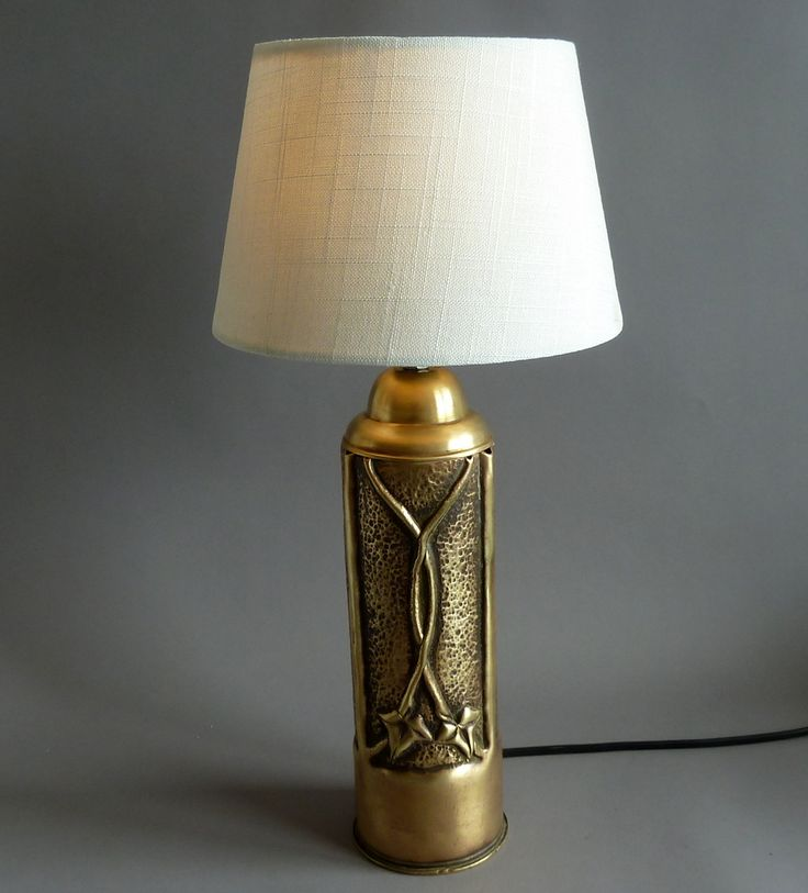 Trench Art desk lamp 1914 https://www.etsy.com/your/shops/DALESARTS/tools/listings/view:table,stats:true/293443175