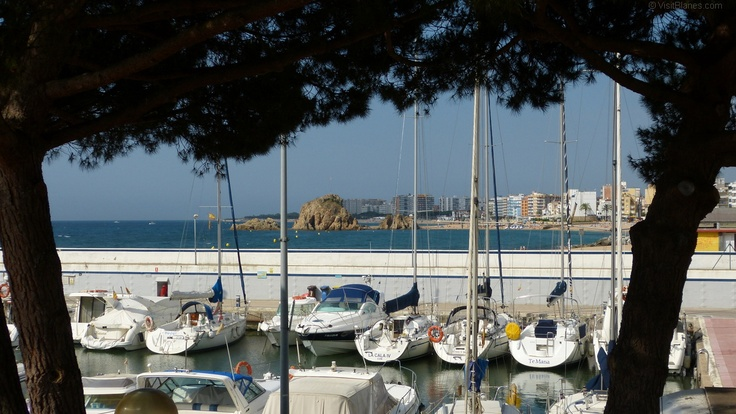 Blanes, seen from the yachting harbor